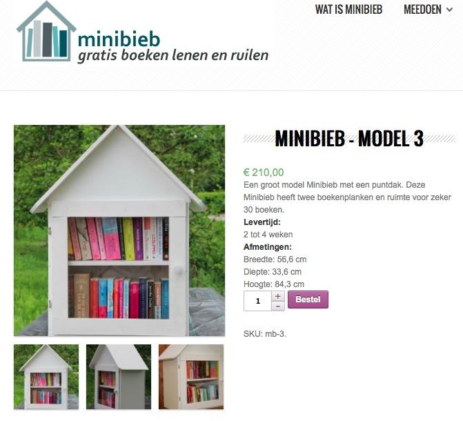 Een mini-bieb kun je ook kant en klaar kopen.