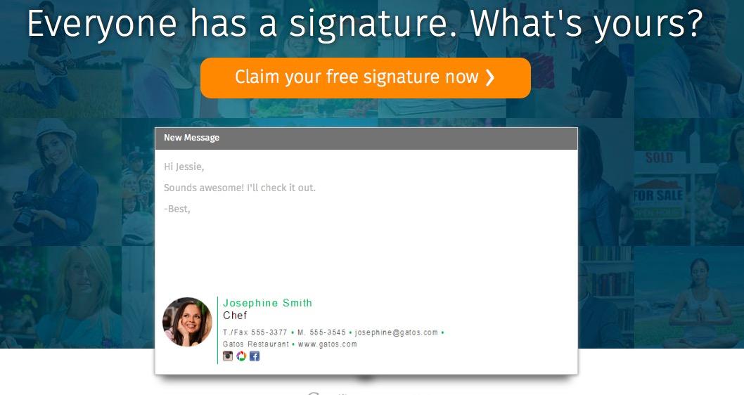 Handtekening met WiseStamp
