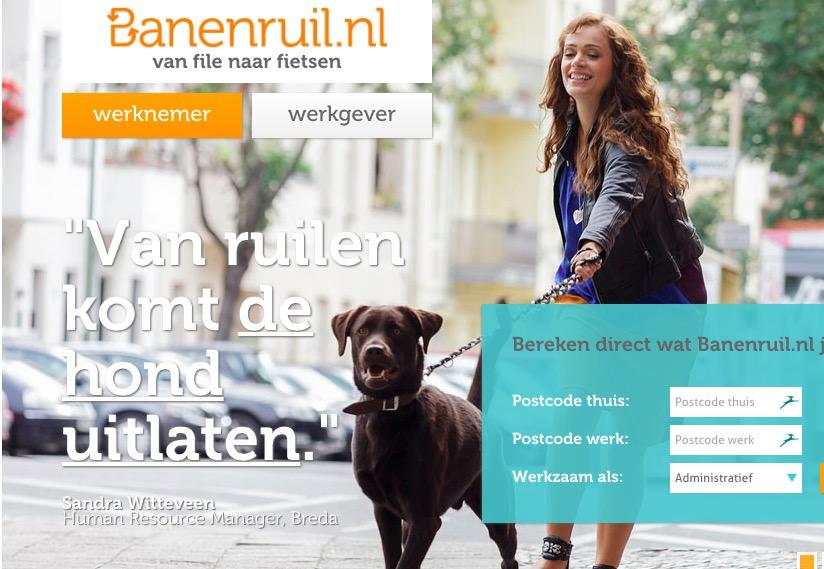 De site van Banenruil.