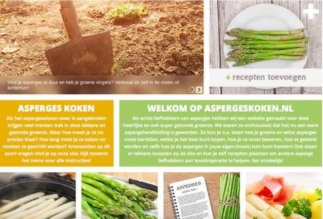 Site over asperges.