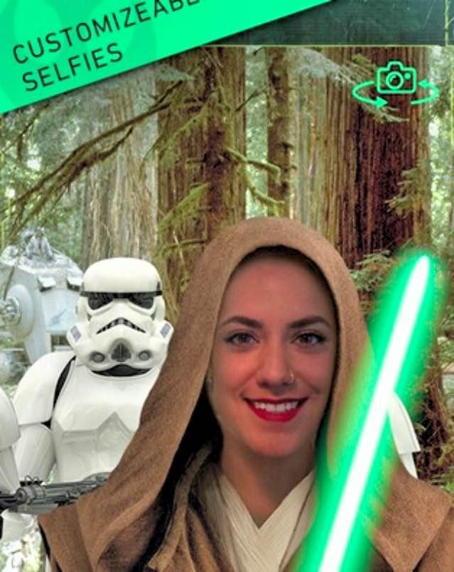 Zo kun je er snel dankzij de app uitzien als een Star Wars acteur.