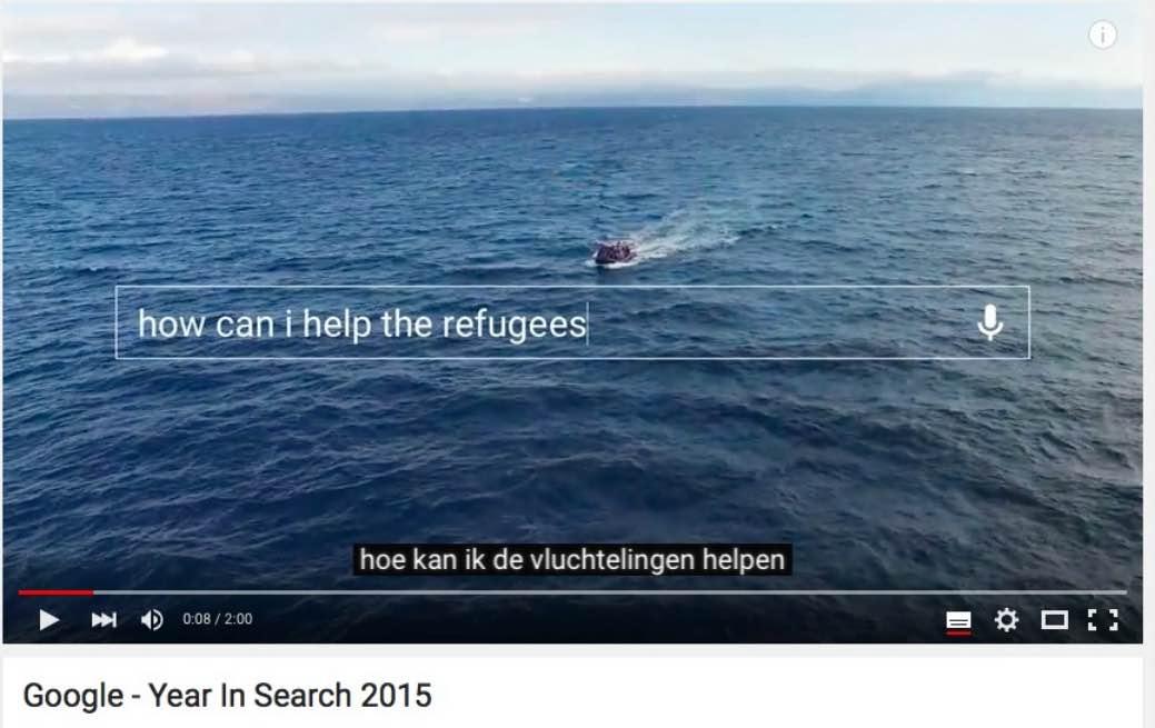 Hulp aan vluchtelingen was een belangrijke vraag.
