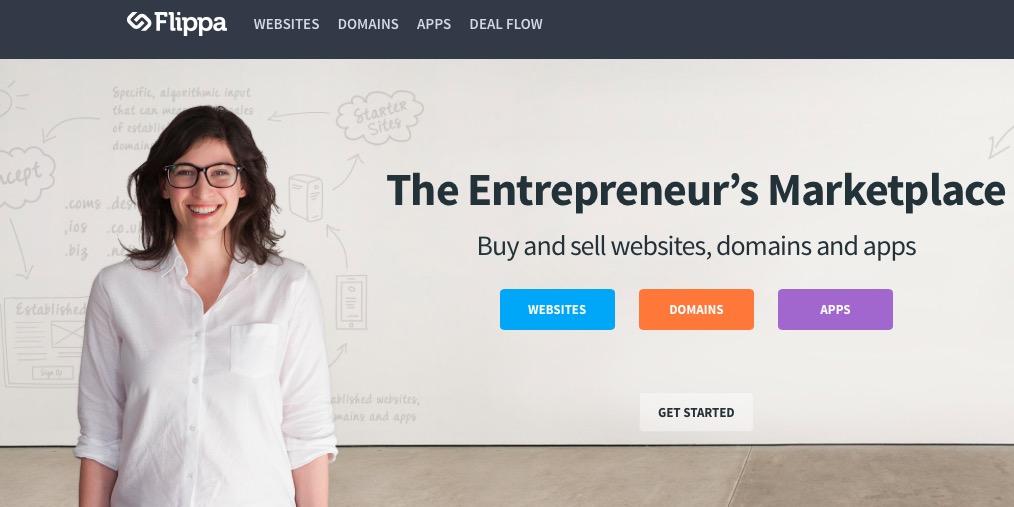 De site van Flippa.