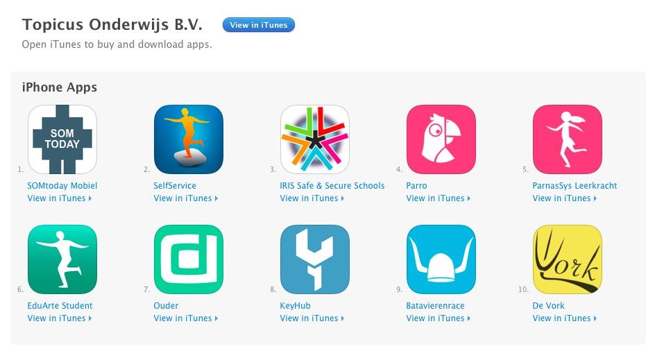 De onderwijs-apps van het bedrijf uit Deventer.